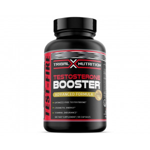Testosterone Booster for Men  Estrogen Blocker for Men  Tribal X Nutrition Test-FIRE Optimizes Free Testosterone - Strength, Lean Muscles, Endurance, Stamina - Promotes Weight Loss and Fat Burning
