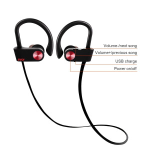 U8I sport bluetooth headphone, wireless bluetooth headphone, IPX7 Waterproof, HD Stereo, 8 Hour Battery, Noise Cancelling, Headsets for Gym Running Workout