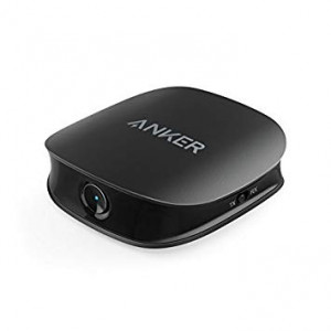 Anker Soundsync A3341 Bluetooth 2-in-1 Transmitter and Receiver, with Bluetooth 5, HD Audio with Lag-Free Synchronization, and AUX/RCA/Optical Connection for TV and Home Stereo System