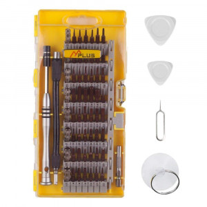 MPLUS 64 Piece Screwdriver Set 56 Bit Magnetic Screwdriver Kit Electronics Repair Tool Kit iPhone, Tablet, MacBook, Xbox, Cell Phone, PC, Game Console.