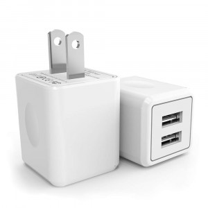 USB Wall Charger,Canyso 2Pack 2.1A/5V Dual Port USB Power Adapter Travel Plug Cube for iPhone X/8/7/6 Plus/SE/5S/4S,iPad,iPod,Samsung Galaxy S7/S6/S5 Edge,LG,HTC,Huawei,Moto,Kindle and More
