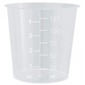4oz Graduated Transparent Polypropylene Plastic Cups for Mixing Epoxy, Resin, Paint, and Stain - 25 Count