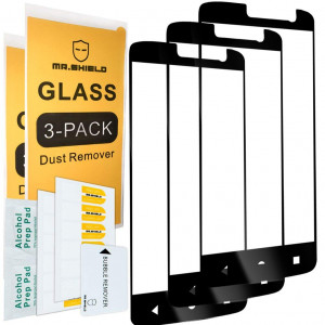 [3-PACK]-Mr Shield For ZTE Blade Spark [Japan Tempered Glass] [9H Hardness] [Full Cover] Screen Protector with Lifetime Replacement Warranty