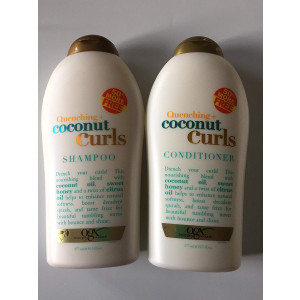 OGX Quenching Plus Coconut Curls Bundle Shampoo and Conditioner 19.5 Ounce each