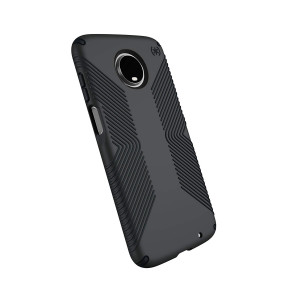 Speck Products Compatible Phone Case for Motorola Moto Z3, Moto Z3 Play, Presidio Grip Case, Graphite Grey/Charcoal Grey