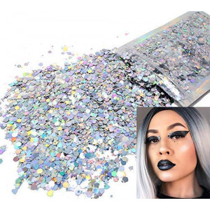 Holographic Glitter  COSMETIC GLITTER  Festival Rave Beauty Makeup Face Body Nail
