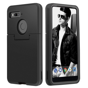 Essential PH-1 Case,DUEDUE Heavy Duty 3 in 1 Case Hybrid Hard PC Cover Soft TPU Bumper Shockproof Anti-Scratch Full Body Protective Cases Essential Phone PH-1, Black