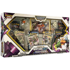 Pokemon TCG: Forces of Nature GX Premium Collection | Collectible Trading Card Set | Features 2 Ultra Rare Foil Promos of Tornadus-GX and Thundurus-GX, 6 Booster Packs, Collectors Pin, Coin and More