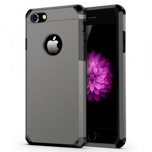 iPhone 7/8 Case, ImpactStrong Heavy Duty Dual Layer Extreme Protection Cover Heavy Duty Case for iPhone 7/8 (Gun Metal)