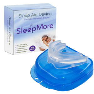 SleepMore Snore Stopper Mouthpiece-Snoring Solution Anti Snoring Devices, Sleep Aid Custom Fit Night Mouth Guard Bruxism and Snoring Solution