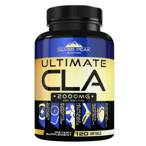 CLA, CLA Safflower Oil for Weight Loss, CLA Supplement for Men and Women, Ultimate CLA 2000mg Supplement by Silver Peak Nutrition, Conjugated Linoleic Acid CLA, 120 CLA Pills, Non GMO~ Made in USA