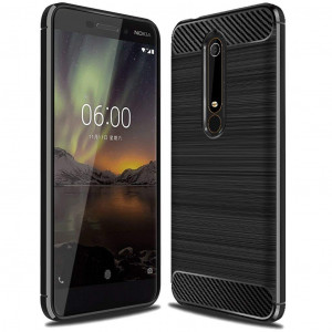 """Nokia 6 2018 Case, (Not for """"Nokia 6""""), Sucnakp TPU Shock Absorption Technology Raised Bezels Protective Case Cover for Nokia 6 2018 smartphone (Black)"""