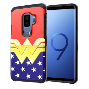 Galaxy S9+ PLUS Wonder Woman Case, DURARMOR Dual Layer Hybrid ShockProof Slim Fit Armor Cover for Galaxy S9 PLUS (2018) Wonder Woman