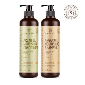 Argan Oil Shampoo and Conditioner Set (2 x 16.9 Oz) - MagiForet Organic Shampoo and Conditioner Sulfate Free - Volumizing and Moisturizing, Gentle on Curly and Color Treated Hair,For Men and Women (cd set)