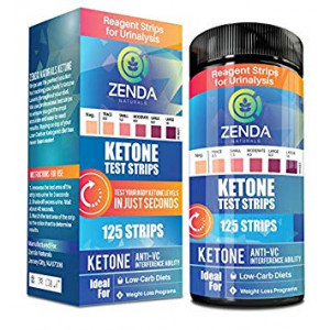 Ketone Strips - Perfect Ketogenic Supplement to Measure Ketones in Urine and Monitor Ketosis for Keto Diet, 125 Urinalysis Test Strips