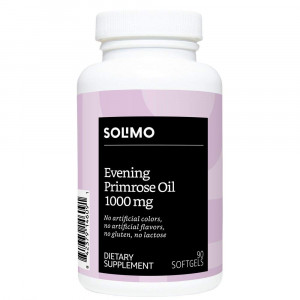 Amazon Brand - Solimo Evening Primrose Oil 1000mg, 90 Softgels, One Month Supply