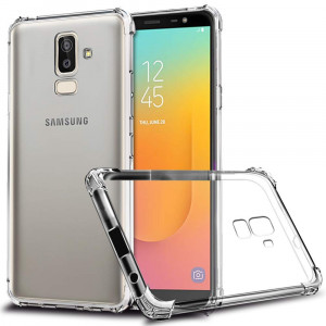 Galaxy J8 2018 Case, Zeking Slim Thin Anti-Scratch Clear Flexible TPU Silicone with Four Corner Bumper Protective Case Cover for Samsung Galaxy J8 (2018)(Transparent)