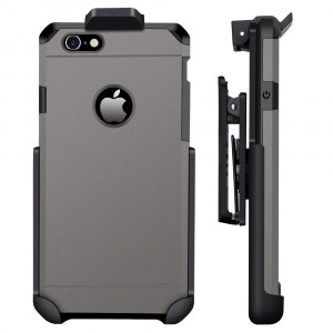 ImpactStrong Compatible for iPhone 6/6s - Belt Clip Case Heavy Duty Dual Layer Extreme Protection Cover and Holster Belt Clip Combo (Gun Metal)