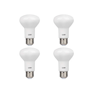 LUNO R20 Dimmable LED Bulb, 6.5W (45W Equivalent), 455 Lumens, 2700K (Soft White), Medium Base (E26), UL and Energy Star (4-Pack)