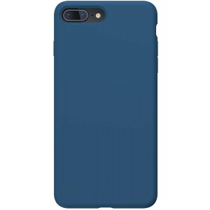 PowerBear iPhone 7 Plus Case/iPhone 8 Plus Case   Slim Soft Touch Liquid Silicone Gel Rubber Case   Anti Scratch Finish   for The Apple iPhone 7+ / 8+ - Navy Blue [24 Month Warranty]