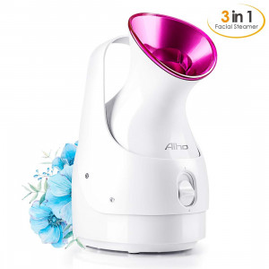 Face Steamer for Facial, Portable Facial Steamer Professional, Home Face Steamer for Blackheads, Hot Mist to Unclogs Pores, Facial Mask Partner by Aiho