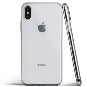 totallee Clear Thin iPhone X Case, Thinnest Soft Cover Slim Flexible TPU Apple iPhone X (2017) (Transparent)