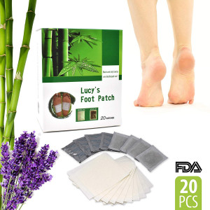 Premium Tiny Helper Foot Pads All Natural and Organic - 20 Premium Bamboo Essential Oil Pads - Remove Impurities - Rapid Pain Relief and Foot Health - Fresh Scent Sleep Better - Give Your Body Relief