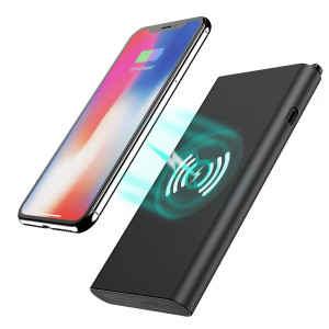Wireless Charger Power Bank - Tech Care 8000mAh 3 in 1 Fast Charging Power Bank Qi Wireless Battery Pack Portable Charger for iPhone X/8/8 Plus, Samsung Galaxy S6/7/8 Note 7/8 and More