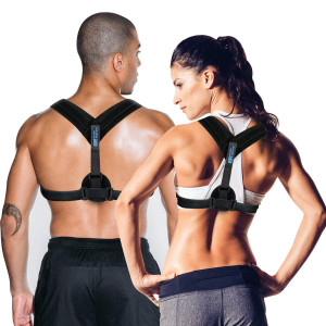 Posture Corrector for Women and Men | Back Brace for Lower Back Pain, Lumbar Support, Shoulder Straightener | Wear it Under Clothes or During Pregnancy | Prevent Scoliosis and Kyphosis | Body Wellness