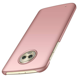 Moto G6 Case, Arkour Minimalist Ultra Thin Slim Fit Cover with Smooth Matte Surface Hard Cases for Motorola Moto G6 (Smooth Rose Gold)