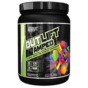 Nutrex Research Outlift Amped | Premium Pre-Workout Focus and Energy, Citrulline, Teacrine, Betaine, Creatine, Beta-Alanine | Cosmic Blast | 20 Servings