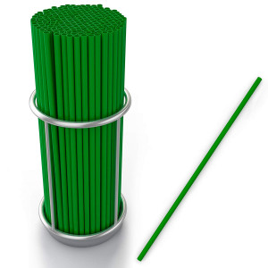 Eco Friendly Green Straws, Bulk Pack of 200 Jumbo Plastic Green Environment friendly Green Drinking Straws by Upper Midland Products
