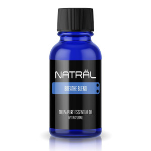 NATRL Breathe Blend, 100% Pure and Natural Essential Oil, Large 1 Ounce Bottle