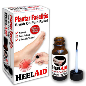 New :: HeelAid Plantar Fasciitis Topical Treatment, Brush On Heel Pain Relief  Doctor Developed, Clinically Tested, Natural Ingredients  Penetrates Deep to Calm Pain Causing Fascia Inflammation