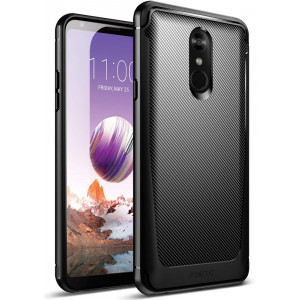 LG Stylo 4 Case, Poetic Karbon Shield [Shock Absorbing] Slim Fit TPU Case with [Carbon Fiber Texture] for LG Stylo 4 Black