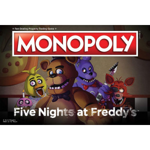 Monopoly Five Nights at Freddy's Board Game | Based on Five Nights at Freddy's Video Game | Officially Licensed Five Nights at Freddy's Merchandise | Themed Classic Monopoly Game
