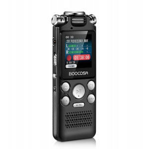 Voice Recorder - Noise Cancelling Audio Recorder - Packs 8GB Memory - Double Microphone for HD Sound Recording Metal Casing Dictaphone (vr001)