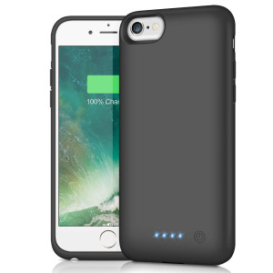 Battery Case for iPhone 6s/6, HETP 6000mAh Portable Charger Case Rechargeable Extended Battery Pack for Apple iPhone 6 and iPhone 6s Charging Case Protective Backup Power Bank (4.7 inch) -Black