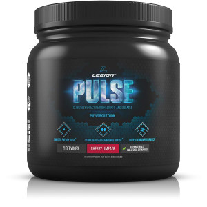 Legion Pulse, Best Natural Pre Workout Supplement for Women and Men  Powerful Nitric Oxide Pre Workout, Effective Pre Workout for Weight Loss, Top Pre Workout Energy Powder (Cherry Limeade)