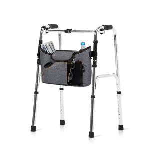 Olivia and Aiden Walker Bag - Wheelchair Pouch for Standard Walkers, Wheelchairs, Bariatric Walkers, and Dual-Point Folding Walkers - Keeps Your Necessities, Accessible and Organized - 2 Bonus Bag Hooks