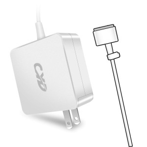 CYD 45W PowerFast Compatible with Laptop-Charger Macbook-Air 11 13 Inch A1465 A1466 Md223 Md232ch Md231b Md711 Md712 Md760 Md761 Md224ch with Magsafe-2-T-Tip, 8.2Ft Notebook DC Adapter Cable