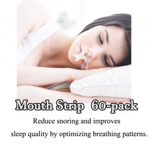 Sleep Strips by Azazar(60 PACK)- Advanced Gentle Mouth Tape for Better Nose Breathing, Improved Nighttime Sleeping, Less Mouth Breathing, and Instant Snoring Relief