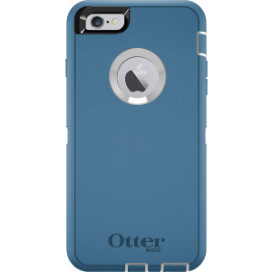 OtterBox DEFENDER Series Case for iPhone 6s PLUS/6 PLUS (Case Only - Holster Not Included) White/Blue