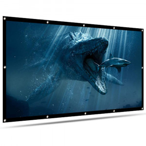 120 inch Projector Screen 16:9 HD, LATIT Foldable Portable Anti-Crease Movies Screen, Double Sided Projection Screen I Rear and Front Projection | for Home Theater Office School