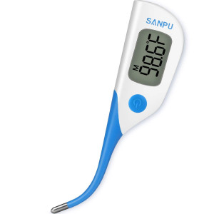 Clinical Thermometer Digital Medical Oral Rectal and Armpit Thermometer for Baby and Adult, Fast 8 Seconds Reading,Waterproof with Fever Alarm,FDA and CE Approved