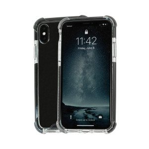 Idea Promo Ultra Clear Case for iPhone X | XS Clear Case, iPhone 10 | 10S, Shock-Absorption and Anti Scratch, Heavy Duty Protective, Reinforced Conner and Rubber Bumper Shockproof (Black)