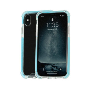 Idea Promo Ultra Clear Case for iPhone X | XS Clear Case, iPhone 10 | 10S, Shock-Absorption and Anti Scratch, Heavy Duty Protective, Reinforced Conner and Rubber Bumper Shockproof (Blue)