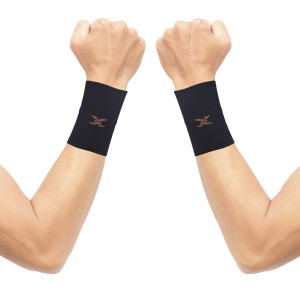 Thx4 Copper Compression Wrist Sleeve-Copper Infused Wrist Support for Men andWomen-Improve Circulation and Recovery(1 Pair)