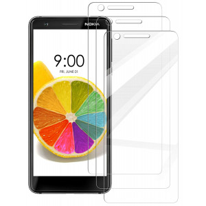 [3 Pack] INGLE Compatible with Nokia 3.1 Screen Protector,Bubble Free 9H Hardness [ Japan Tempered Glass ] with Lifetime Replacement Warranty for Nokia 3 2018  Not Fit for Nokia 3