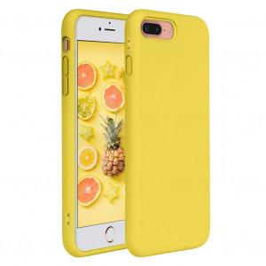 iPhone 7 Plus Case, iPhone 8 Plus Case, Pelipop Colorful Yellow Slim Fit Anti-Scratch Soft TPU Gel Silicone Skin Frosted Protective iPhone Cover iPhone 7 Plus/iPhone 8 Plus(Yellow)